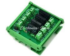DIN Rail Mount 4 Channel SSR/Solid State Relay Interface Module,AC100~240V/2A. D