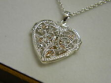 Clogau Silver & 9ct Rose Welsh Gold Large Kensington Locket RRP £229.00