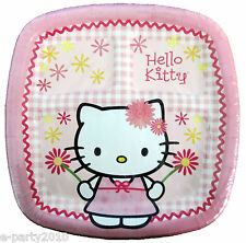 HELLO KITTY Pink LARGE POCKET PLATES (8) ~ Birthday Party Supplies Dinner Plaid