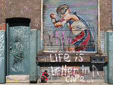 street art A1 SIZE PRINT CANVAS QUALITY by andy baker life better  cape