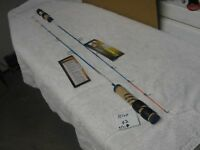 "Pair of Ice Blue 32"" Ultra Light Super Flex Ice Fishing Rods"