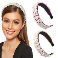 Full Pearl Headband Women Pearl  Decorate Ladies Hairband Hair Accessory KUUTR