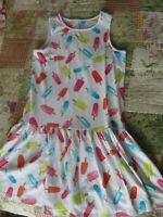 EUC Girls Lands' End Popscicle Summer Spring Dress Size M 10-12