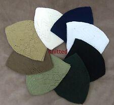 Men's skull cap, Islamic prayer hat 8 Colours topi knit/velvet/wool High Quality