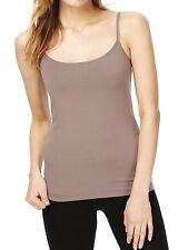 Womens Camisole Vest Top Size 6 8 12 16 18 New Ladies MnS Mink Brown Cotton rich