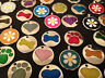 Pet Tag Pet id Tags Glitter Paw Bone Heart Flower Engraved Free Pet Tag dog cat