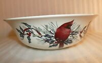 """Lenox Winter Greetings Serving Bowl 9 3/8 """" Fill Your Home With Joy Cardinal"""