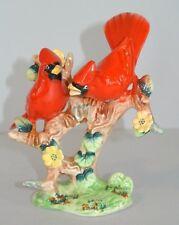 """Vintage Enesco Ceramic 5"""" Cardinal Birds Figurine"""