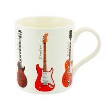 boxed mug vintage guitar, white