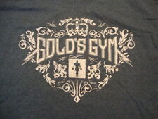 Gold's Gym Fitness Workout Exercise Training Royal Gray T Shirt Size L