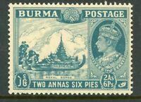 Burma 1938 KGVI 2a6p Green Blue SG 57 MNH C241