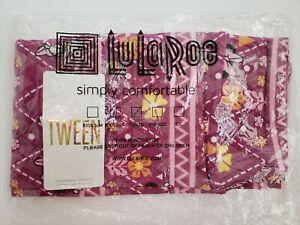Lularoe Disney Tween Daisy Duck & Minnie Mouse Aztec Floral Print Leggings NEW!