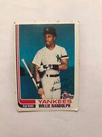 Yankees Topps Baseball Card Willie Randolph #569 NY Mets