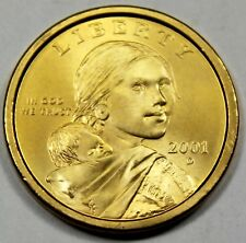 2001-D United States Sacagawea Gold-Plated Dollar - BU Brilliant Uncirculated