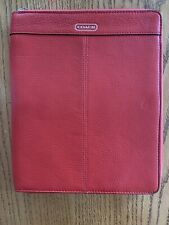 AUTHENTIC Coach Red Leather iPad 2 Zipper Case Great Condition Original $90