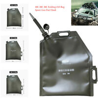 10L 20L 30L Folding Oil Bag Spare Gas Fuel Petrol Tank Can Car Motorcycle
