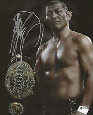 Minoru Suzuki Signed 11x14 Photo BAS COA New Japan Pro Wrestling All Noah Belt