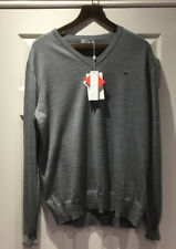 "NEW WITH TAGS J LINDEBERG LYMANN TRUE MERINO GREY V NECK SWEATER 24"" PIT TO PIT"