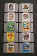 10x N64 Spiele NTSC-J Mario Kart Party Diddy Kong Smash Yoshi Nintendo 64 Japan