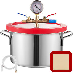 1.5 Gallon Vacuum Chamber Stainless Steel kit HVAC Silicone gasket Durable