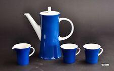 Melitta Kaffeeservice Geschirr Set Kaffekanne Tassen blau Jupp Ernst Design 60er