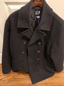 Gap Men's Pea Coat Navy Blue Size Medium