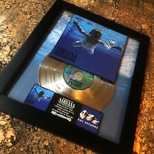 NIRVANA NEVERMIND Platinum Music Award Record Album Disc Kurt Cobain