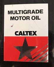 Caltex Multigrade Motor Oil Sticker Card NOS