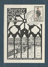 carte  1er jour  journée du timbre  26 Avignon     1961