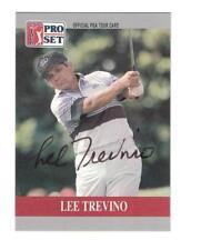 Lee Trevino Signed Autographed 1990 Pro Set PGA Tour Golf Card