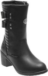 Harley-Davidson® Women's Kirkley 8-Inch Waterproof Black Motorcycle Boots D87143