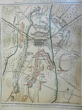 Gettsyburg City Plan Civil War Battle Map 1864 Virtue & Yorston map