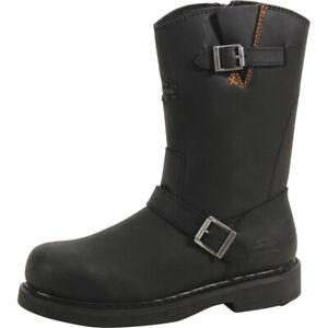 Harley Davidson Men's Jason Black Steel Toe Boots Shoes D93120