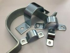 Steel Zinc Plated Pipe Saddle Clamp - Thick HEAVY DUTY 22mm to 165mm diff qtys