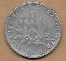 1 Franc argent La Semeuse 1898