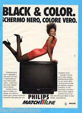 QUATTROR991-PUBBLICITA'/ADVERTISING-1991- PHILIPS - BLACK & COLOR MATCH LINE