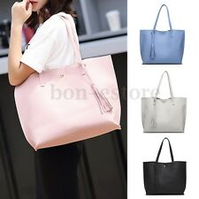 Fashion PU Leather Women Handbag Large Capacity Totes Lady Shoulder Bag Tassels
