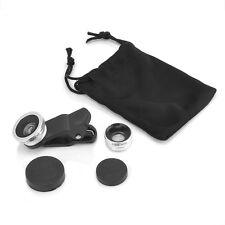 Universal 3in1 Clip Camera Lens Kit Fisheye +Wide Angle +Macro for Mobile Phone