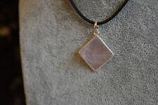Rosrenquarz Anhänger Pyramide - 925 Silber Tachyon Halskette Energiezellen N264