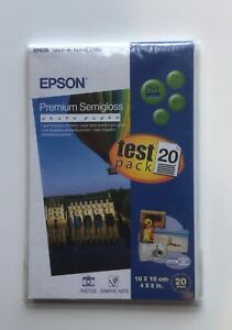 epson semigloss photo paper, 6x4 inches, 20 sheets