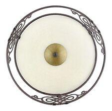 Deckenlampe Deckenleuchte Lampe Leuchte Glas Metall antik braun gold EGLO 86711