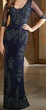 MGNY Madeline Gardner Beaded Bridal Party Wedding Mother of Bride Dress sz 18