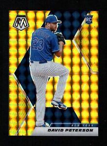 David Peterson 2021 Panini Mosaic #256 Gold Prizm Refractor Rookie RC 5/10 Mets