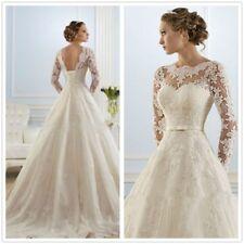 Vintage Lace V Back Floral Wedding Boleros Jackets Long Sleeves Custom New