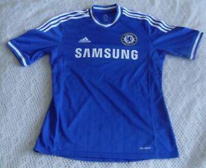 Chelsea 2013/2014 Home Adidas Samsung Short Sleeve UK Mens M Shirt