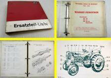 Massey Ferguson MF30 25 20-25 Parts List Catalogue Pieces de Rechange 1966