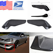 US Stock 2X Carbon Fiber Style Car Front Bumper Lip Diffuser Splitter Canard
