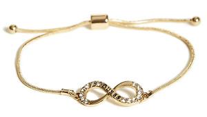 NEW GUESS Fashion Bracelet GOLD Dainty Infinity Charm Bangle BNWT
