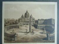 Peterskirche und Vatikan Palast Druck nach einer Heliochromie von James Anderson