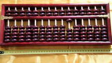 Boulier Chinois 15 tiges-Suanpan-Chinese Abacus-Abakus-Abaco-rouge
